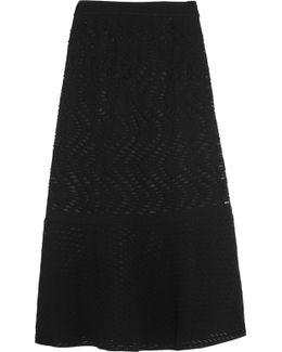 Cutout Stretch-knit Skirt