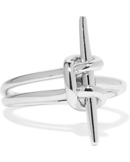 Silver-tone Brass Ring