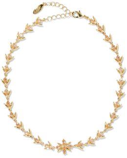 Gold-tone Crystal Choker
