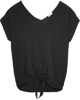 Knotted Crinkled Voile Top