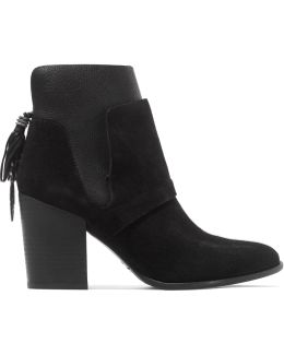 Gianna Textured-leather And Suede Boots