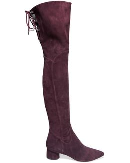 Zetan Lace-up Suede Over-the-knee Boots