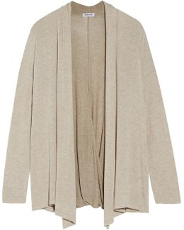 Wrap-effect Stretch-knit Cardigan