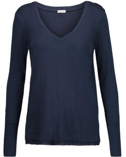 Micro Modal And Supima Cotton-blend Top