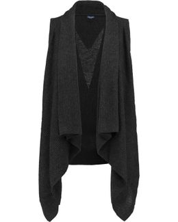 Draped Cotton-blend Cardigan