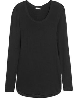 Drapey Lux Stretch-jersey Top