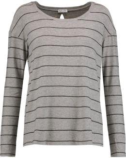 Striped Cutout Jersey Top