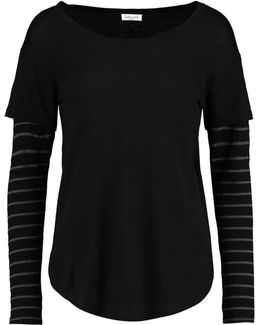 Layered Micro Modal And Supima Cotton-blend Top