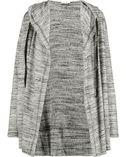 Draped Slub Jersey Cardigan
