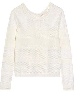 Modene Open-knit Cotton-blend Cardigan