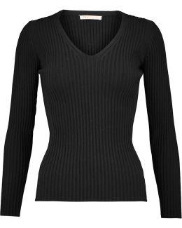 Ribbed-knit Top