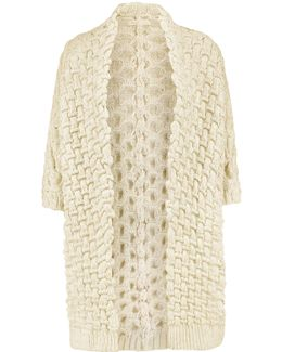 Metallic Jacquard-knit Cardigan