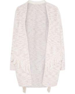 Fringed Cotton-blend Cardigan