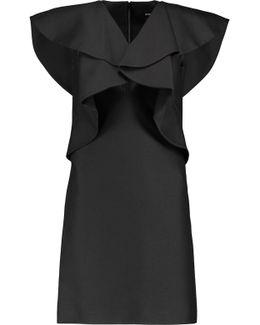 Draped Wool And Silk-blend Mini Dress