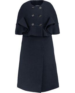 Tiered Wool-felt Coat