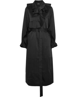 Ruffled Satin Coat