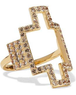 Kota Gold-tone Crystal Ring