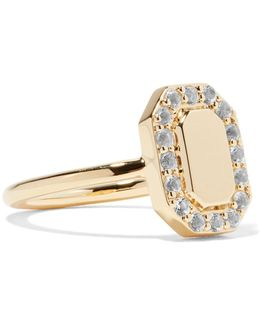 Torrens Gold-tone Crystal Pinky Ring