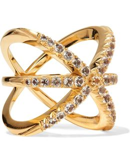 Vida Gold-plated Crystal Ring