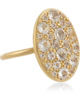 Constance Gold-plated Topaz Ring