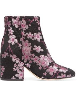 Taye Floral-Brocade Ankle Boots