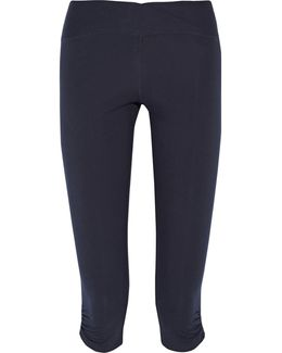 Candace Cropped Stretch-cotton Leggings