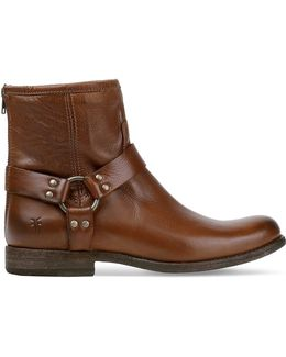 Phillip Harness Leather Boots