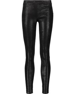 Edita Glittered Stretch-leather Leggings