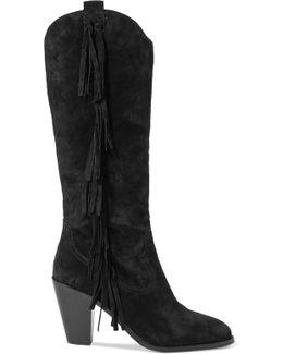 Imala Tasseled Suede Knee Boots
