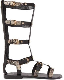 Myconos Leather Sandals