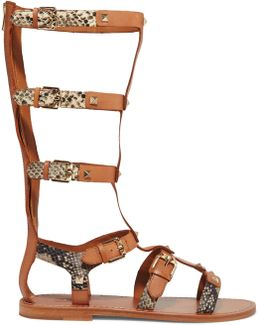 Mykonos Studded Leather Sandals