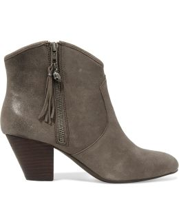 Jess Cracked-leather Ankle Boots