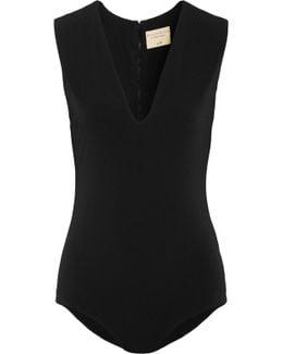 Stretch-crepe Bodysuit