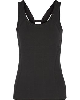 Jackie Cutout Cotton-blend Tank