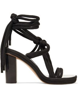 Miana Lace-up Braided Cord Sandals