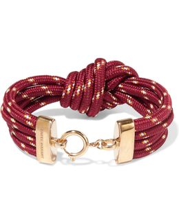 Knotted Gold-tone Cord Bracelet
