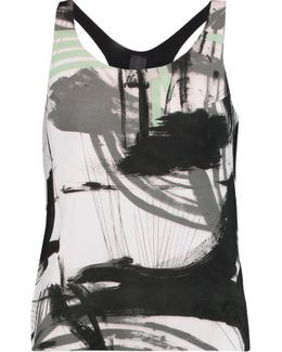 Printed Stretch-jersey Tank