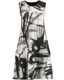 Printed Stretch-jersey Dress