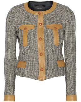 Kacie Leather-trimmed Wool-blend Tweed Jacket