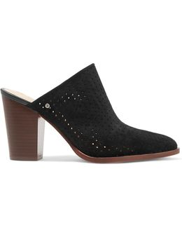 Bates Perforated Suede Mules