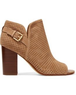 Easton Perforated Suede Ankle Boots