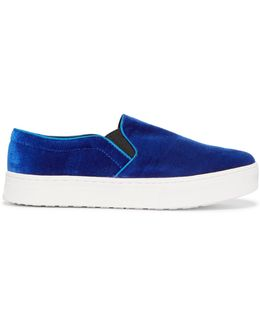 Lacey Velvet Slip On Sneakers