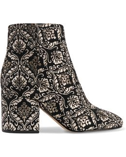 Metallic Jacquard Ankle Boots