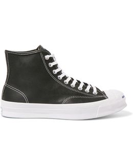 Jack Purcell Signature Leather High-top Sneakers