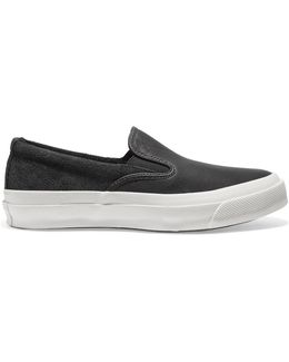 Deck Star 67 Leather And Suede Slip-on Sneakers