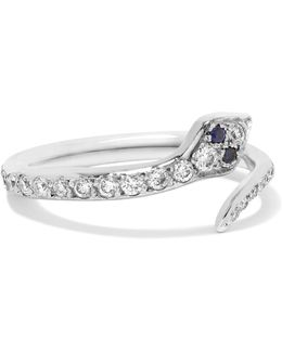 Viper 18-karat White Gold Diamond Ring