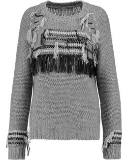 Fringed Knitted Cashmere Sweater
