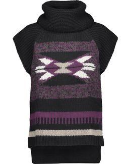 Intarsia-knit Cotton Sweater