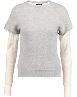 Layered Cotton And Cashmere-blend Sweater