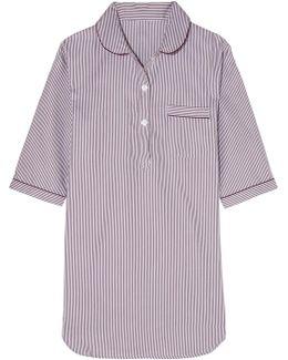 Verbier Striped Swiss Cotton Nightdress